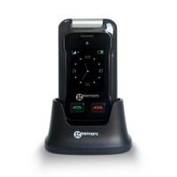 GEEMARC Téléphone portable grosses touches sénior amplifié avec double écran et appareil photo CL 8500
