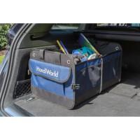 HANDIWORLD Rangement de coffre - Solution de rangement pour le coffre - Convient a tous les véhicules - Bleu