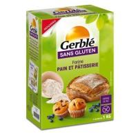 GERBLE Farine Pain et Pâtisserie sans gluten - 1 kg