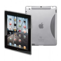 CASE for iPad 2/3 (TPU)transparent/weiss