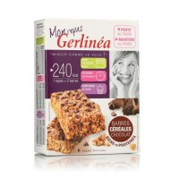 GERLINEA Barre céréaliere substitut de repas au chocolat - 372 g