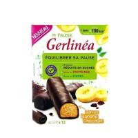 GERLINEA Barres énergétique a la banane enrobées de chocolat noir - 372 g