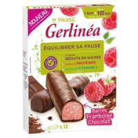 GERLINEA Barres framboise chocolat - 372 g