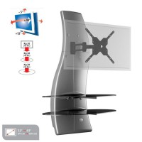 GHOST DESIGN 2000 ROTATION Meuble TV support Silver