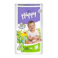 HAPPY Couches Taille 4 - De 8 a 18 kg - 46 couches