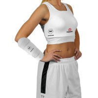 HAYASHI Coque brassiere de karaté officiel WKF - Femme - Blanc