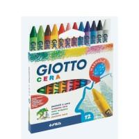 GIOTTO Étui accrochable de 12 Crayons cire Cera
