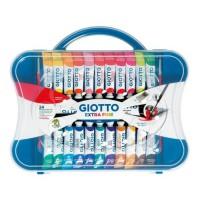 GIOTTO Gouache extra-fine - Boîte accrochable de 22 tubes - 20 x 12 ml + 2 x 21 ml