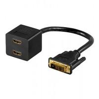 DVI ADAP 18+1 DVI-D vers 2x HDMI+