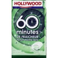 HOLLYWOOD Chewing-gum Menthe verte 60 mintes de fraicheur - 3 x 10 dragées Sans sucre