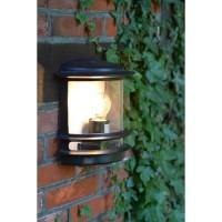 HOLLYWOOD-Applique d'extérieur avec capteur H25cm Noir Brilliant