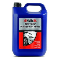 HOLTS Rénovateur plastiques et pneus - Nettoyants specifiques professionnel - 5 L
