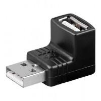 USB ADAP A-M/A-F 90°