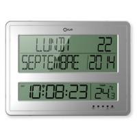 Horloge calendrier Grands Caracteres 43x32,5 cm blanche