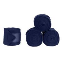 HORZE Lot de 4 bandes de repos acrylique pour chevaux - Bleu foncé
