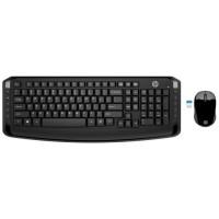HP Clavier + souris WiFi 300 3ML04AA - Noir