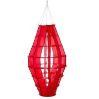 HQ INVENTO Moulin a vent a suspendre - Lampion géant rouge