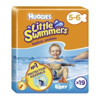 HUGGIES Maxi Pack Little Swimmers - Taille 5/6 - 19 Couches de bain