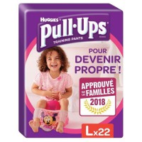 HUGGIES Pull Ups Economy Fille Taille 6 L - De 16 a 23 kg - 22 couches