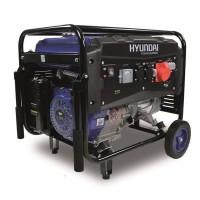 HYUNDAI Groupe électrogene a essence de chantier HG5500 - 5000 W a 5500 W - Systeme AVR - Bleu et noir