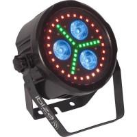 IBIZA LIGHT 16-2021 Projecteur PAR DMX a LED d'animation avec télécommande - Noir