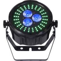 IBIZA LIGHT 16-2022 Projecteur PAR DMX a LED d'animation avec télécommande - Noir