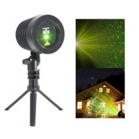 IBIZA LZR-RGOUTDOOR Laser multipoints extérieur rouge et vert avec trepied et télécommande - Noir
