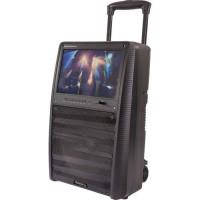 """IBIZA SOUND 17-2510 Enceinte portable autonome 12""""/30cm, 800W - Ecran TFT couleur 15"""", Bluetooth, télécommande & 2 micros UHF"""
