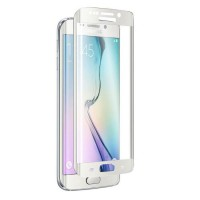 ICHIC Verre trempé Tough Curve Galaxy S6 Edge - Blanc