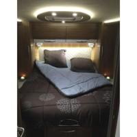 INCASA Lit pour Camping-car Cosy - 140 x 190 cm - Lit central
