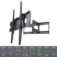"""INOTEK PRO M1 3265 Support TV mural - Pour TV 32"""" a 65"""" (81 a 165 cm) - Inclinable et Orientable - Noir"""