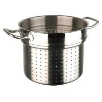 INOXIBAR Panier de cuisson a vapeur Ligne Professionnelle en inox - Ø 24 x H 17 cm - Gris