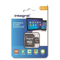 INTEGRAL MEMORY Class 10 Micro SDXC 512GB 80MB/s en vitesse de transfert + adaptateur SDHC/SDXC