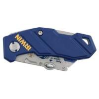 IRWIN Couteau pliant en métal et plastique avec lame bi-métal
