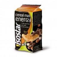 ISOSTAR Barres Cereal Max noisette-chocolat - 3x 55 g