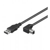 USB AB 100 90° HiSpeed 1m