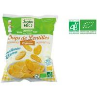 JARDIN BIO Chips de lentilles aux petits oignons bio - 50 g