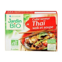 JARDIN BIO Cube saveur Thai wok et soupe bio - 66 g