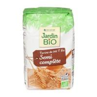 JARDIN BIO Farine de blé semi complete bio - 1 kg
