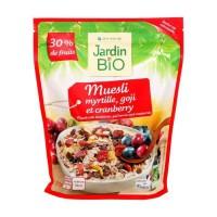 JARDIN BIO Muesli / Myrtille / Goji et cranberry bio - 375 g