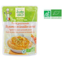 JARDIN BIO Purée gourmande légumes et lentilles corail bio - 250 g