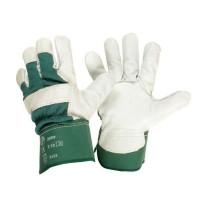 JARDIN PRATIQUE Gants de travail en cuir - Taille 10 / L - Vert et blanc