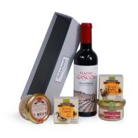 JEAN DE VEYRAC Panier Sélection Gourmande, contient 4 produits de terroir et 1 vin