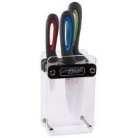 JEAN DUBOST Bloc pour couteaux de cuisine + 3 couteaux céramiques Stratos - Plexiglass