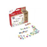 JEUJURA Lettres magniétiques Magnets abc et chiffres - Coffret de 76 caracteres pour tableau