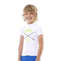 JOBE Rashguard - Enfant garçon - Blanc et vert