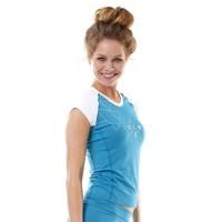 JOBE Rashguard V-neck - Femme - Bleu