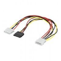 CAK S-19 Y-Câble éléctrique S-ATA vers 2x 5,25