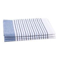JULES CLARYSSE Lot de 3 torchons Timeless - 100% coton - 50x70 cm - Bleu