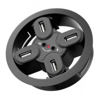 USB - HUB mounting HUB 4 Port 80mm+Audio